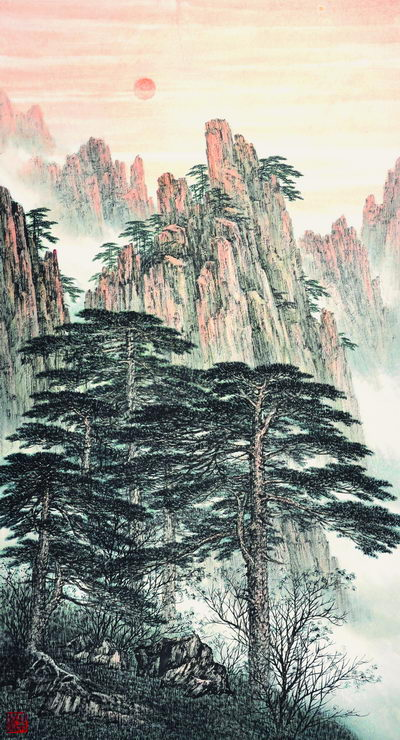 A Sketch of the Yellow Mountain, 96×178cm, 2011.