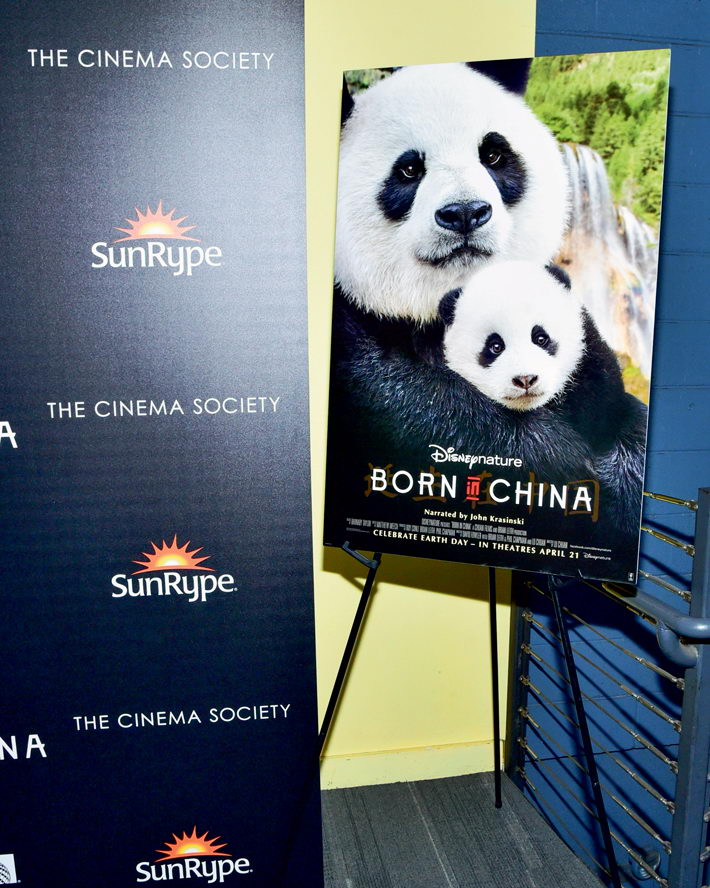 April 8, 2017, New York, U.S.A.: The premiere of Born in China, featuring rare species of wild animals in China. A Sino-U.S. co-production, Born in China beat every other documentary in box office earnings in 2017 with US$13.87 million in the United States.  VCG