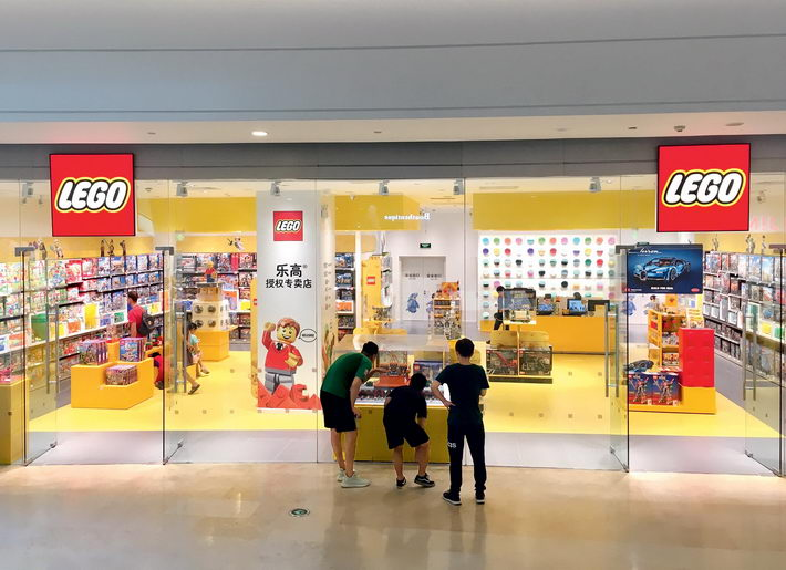 A certified Lego store in Beijing. Lego Group is gradually expanding to more second- and third-tier cities in China. VCG