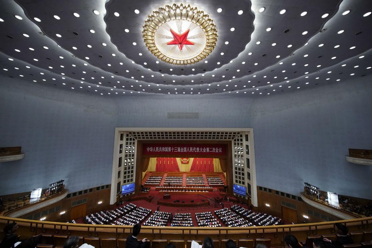 3月5日 第十三届全国人民代表大会第二次会议在北京人民大会堂开 摄影万全